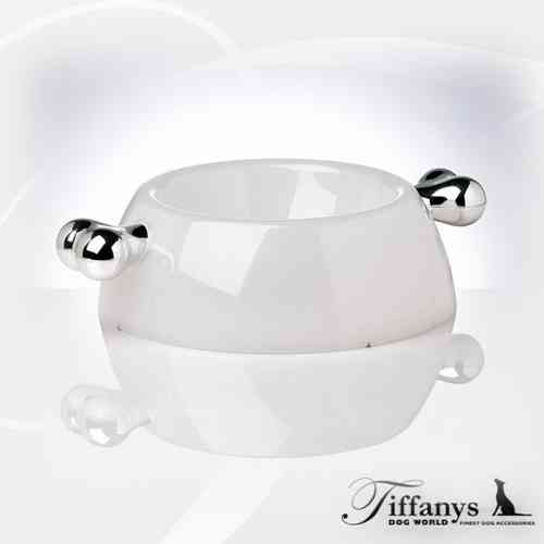 Napf mit Knochen - Atrium Transparent Platinum