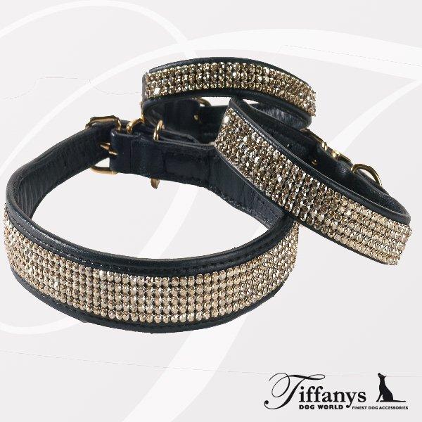 5ring orig swarovski halsband schwarz hundehalsb nder online kaufen hundeleinen. Black Bedroom Furniture Sets. Home Design Ideas