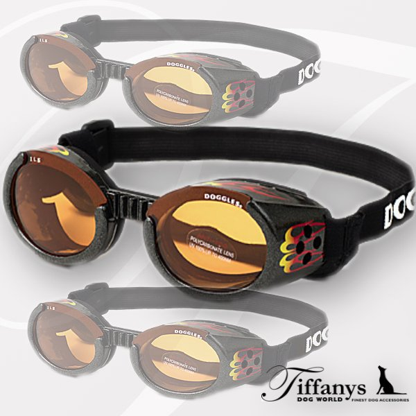 Doggles ILS - Hundesonnenbrille: Racing Flames