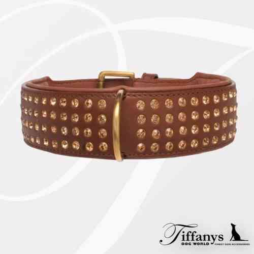"Halsband ""Strass Extreme Brown-Gold"" 4-reihig"