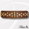 "Halsband ""Diamond Dog Brown-Gold"""