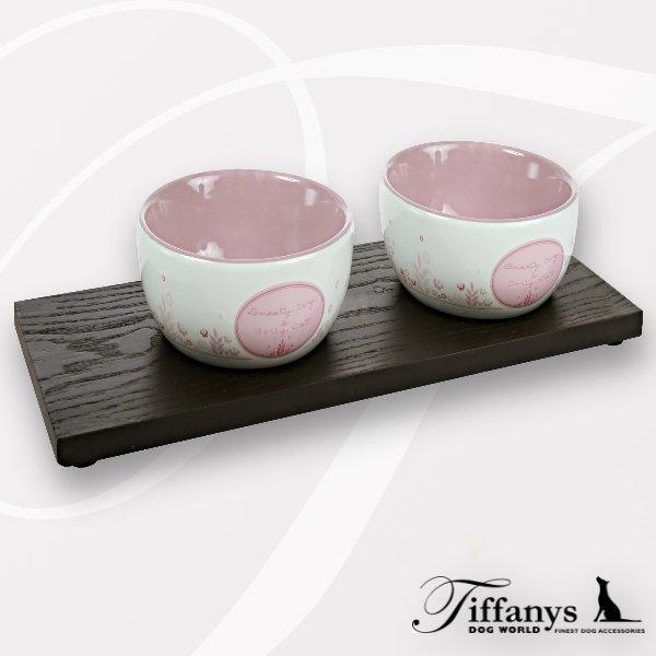 holzuntersetzer f r keramiknapf serie d c doppel hundehalsb nder online kaufen. Black Bedroom Furniture Sets. Home Design Ideas