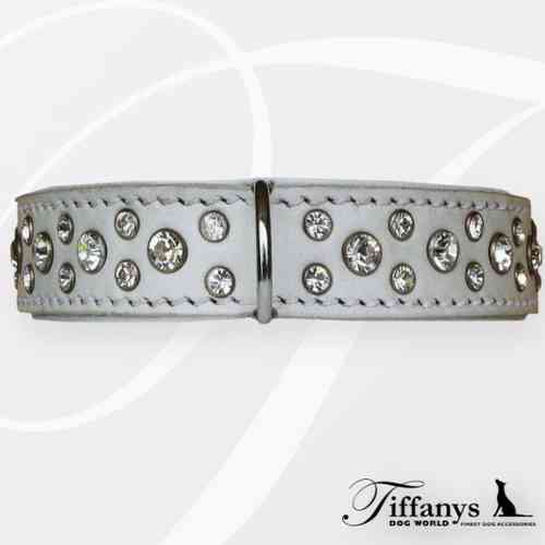 "Halsband ""Diamond Dog White-White"""