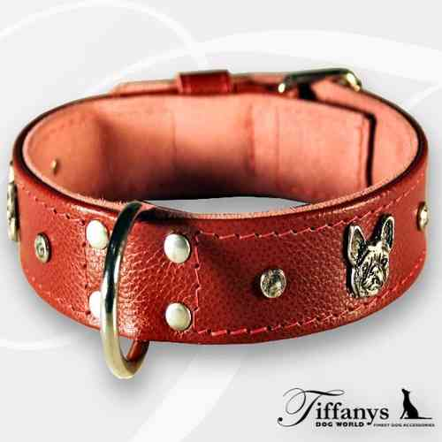 "Hundehalsband "" Beau Chien Rouge"""