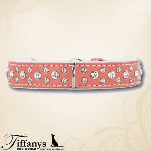 "Halsband ""Diamond Dog Rosa-White"""