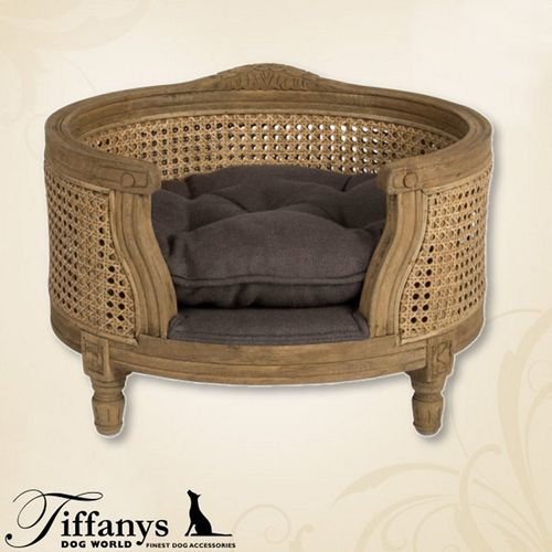 Hundebett George Charcoal Brown - Rattan